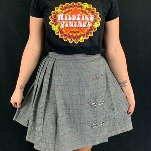 90s Houndstooth Mini Skirt